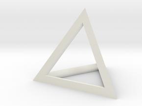 Triangle Pendant - thick in White Natural Versatile Plastic