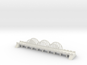 1/700 Steel Road Bridge in White Natural Versatile Plastic