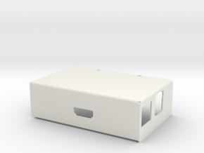 Raspberry PI Computer -Sheet Metal Case - Cover in White Natural Versatile Plastic