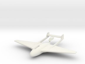 Aircraft- DH 100 Vampire Mk I (1/100th) in White Natural Versatile Plastic