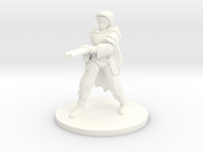 Adran, Elven Shotgun Ranger 1:54 scale in White Strong & Flexible Polished
