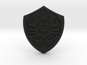 Royal Shield III in Black Natural Versatile Plastic