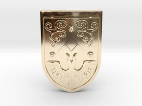 Toon Hero's Shield in 14K Yellow Gold