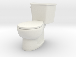 1:24 Tank Toilet (Not Full Size) in White Natural Versatile Plastic
