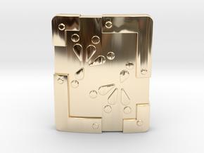 Iron Shield in 14K Yellow Gold