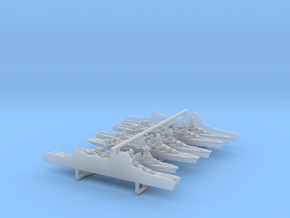 1/4800 WWII French Navy  Cruisers in Smooth Fine Detail Plastic