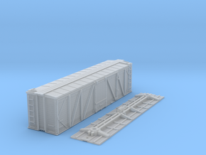 "N-Scale D&RGW ""Fowler Clone"" Boxcar (K-Brake) in Smooth Fine Detail Plastic"