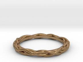 Woven Ring in Natural Brass