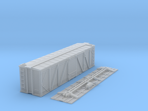 """N-Scale D&RGW """"Fowler Clone"""" Boxcar (AB Brakes) in Smooth Fine Detail Plastic"""