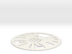 S.H.I.E.L.D. Logo Coaster in White Strong & Flexible