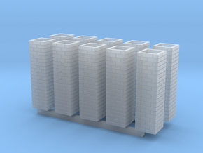 Double Brick Pier HO X 10 in Smooth Fine Detail Plastic