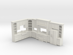 1:48 Farmhouse Kitchen D in White Strong & Flexible