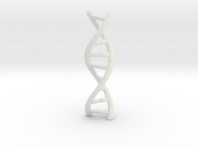 DNA pendant in White Natural Versatile Plastic