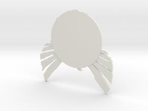 inFamous Second Son Button Face - Paragon in White Natural Versatile Plastic