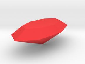 Build A Gem  Pendant Gem   in Red Processed Versatile Plastic