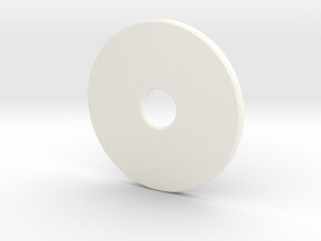 Pinball Slingshot Plastics Protector Washer in White Strong & Flexible Polished