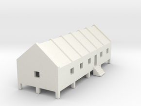 1/700 Prison Camp Building 1 in White Strong & Flexible