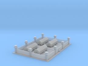 1/700 Prison Camp Compound in Smooth Fine Detail Plastic