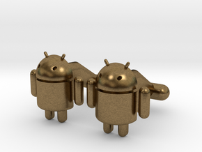 Android Cufflinks in Natural Bronze