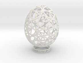 EASTER PEACE EGG in White Natural Versatile Plastic