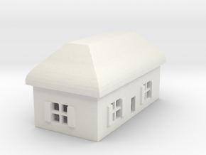 1/700 Villiage House 5 in White Strong & Flexible