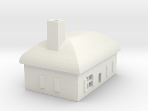 1/700 Villiage House 6 in White Strong & Flexible