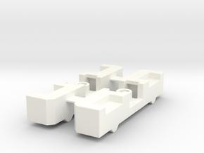 Bugaboo BeePlus ExtensionBlocks in White Processed Versatile Plastic
