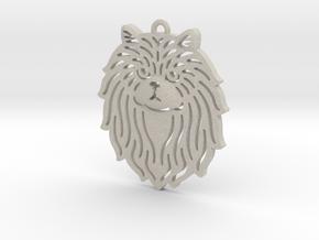 Cute pet pendant in Natural Sandstone
