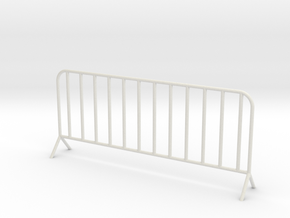 1:24 Scale- Fence panel in White Natural Versatile Plastic
