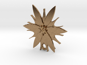 Passion Flower Pendant in Natural Brass