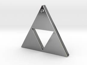 Triangle Earrings or Charm 12mm in Polished Silver