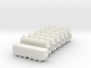1/700 Passenger Train Set in White Natural Versatile Plastic