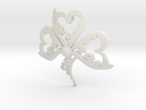 shamrock 3 in White Natural Versatile Plastic