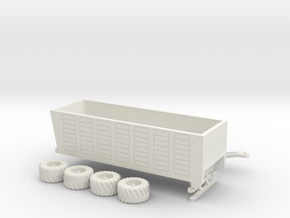1:160/N-Scale Silage Trailer in White Natural Versatile Plastic