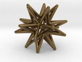 Icosahedron Star Earring in Natural Bronze