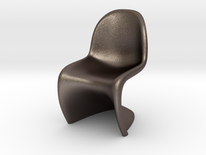 Panton Chair Scale 1/10 (10%) in Polished Bronzed Silver Steel