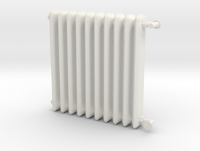 1:24 Scale- Radiator in White Natural Versatile Plastic