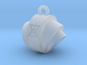 Pendant- Runestone Small- Holder in Smooth Fine Detail Plastic