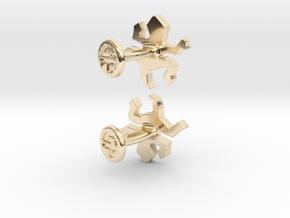 Escher Reptile Cufflinks in 14K Yellow Gold