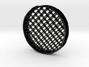 Diamond-structure coaster in Matte Black Steel