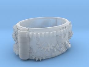 Gear bracelet in Smooth Fine Detail Plastic