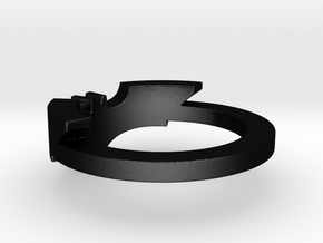 BATMAN ring size 12 in Matte Black Steel