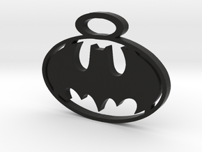 BATMAN pendant in Black Natural Versatile Plastic