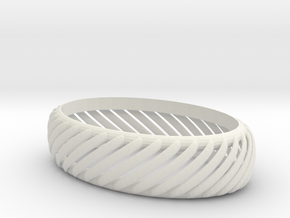 slotted bracelet in White Natural Versatile Plastic