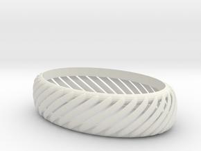slotted bracelet in White Natural Versatile Plastic