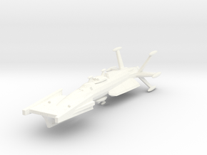 EDSF Torpedo Frigate in White Strong & Flexible Polished