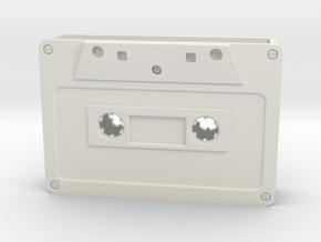 Card Holder - Cassette Tape in White Natural Versatile Plastic