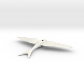 Swallow 1 in White Natural Versatile Plastic
