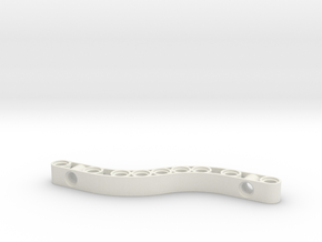 Curved Liftarm 4x11 in White Natural Versatile Plastic