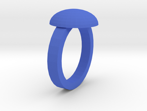 Crystal Ring in Blue Processed Versatile Plastic